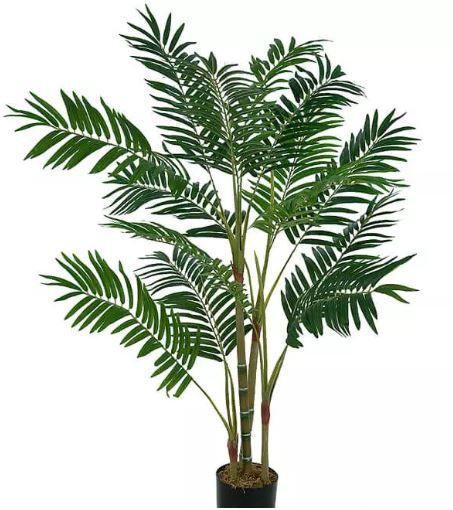 Planta Árvore Artificial Palmeira Areca Verde 1,2m
