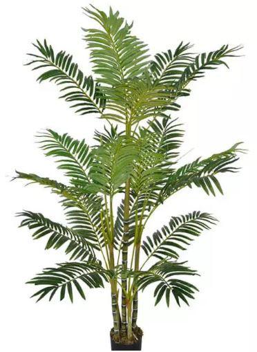 Planta Árvore Artificial Palmeira Areca Verde 1,5m