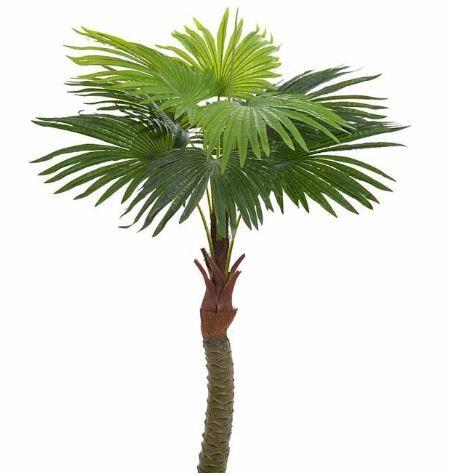 Planta Artificial Árvore Palmeira Leque Verde 1,4m