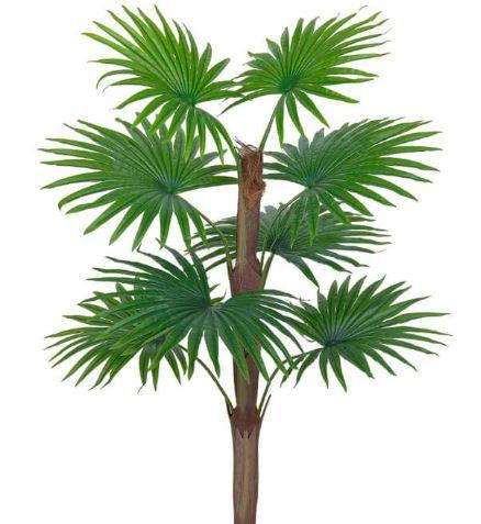 Planta Artificial Árvore Palmeira Leque Real Toque Verde 90cm