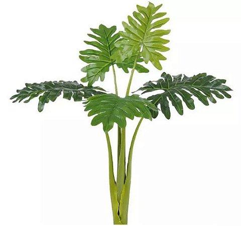 Planta Árvore Artificial Philodendron Xanadu Real Toque Verde 1,17m