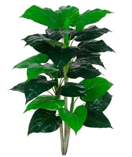 Planta Árvore Artificial Philodendron Real Toque Verde em 2 Tons 90cm
