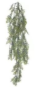 Folhagem Artificial Samambaia Pendente Flocked Verde 86cm
