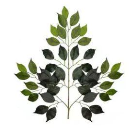 Folhagem Artificial Ficus Verde 53cm
