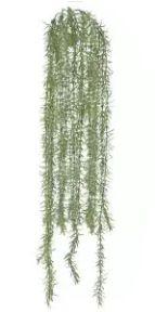 Folhagem Artificial Grass Pendente Verde com Powder 89cm