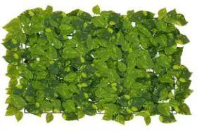 Folhagem Artificial Placa Jiboia Verde em 2 Tons 60x40cm