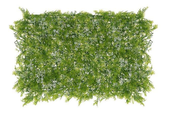 Folhagem Artificial Placa Grama C/Flor Mini (Verde) mod4