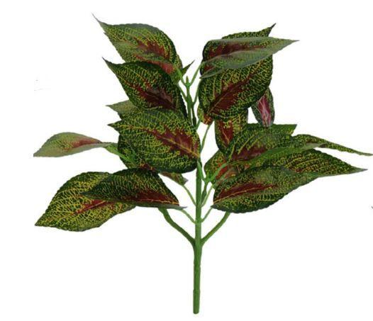 Folhagem Croton Forração Real Toque X22 (VERDE E VERMELHO) 29 cm