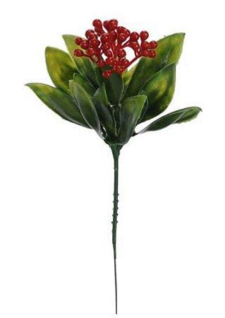 Folhagem Pick Frutinha (VERMELHO) 21 cm