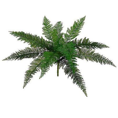 Folhagem Artificial Samambaia Verde 55cm