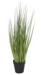 Arranjo Grass Artificial Verde com Pote 53cm