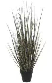 Arranjo Grass Artificial Marrom Listras Verde 69cm