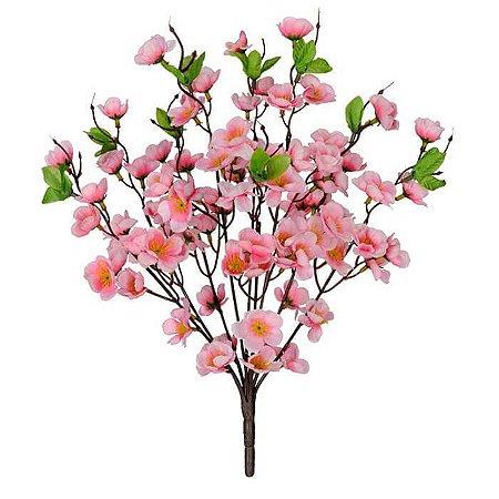 Buquê Flor Artificial Cherry Blossom Rosa 39cm