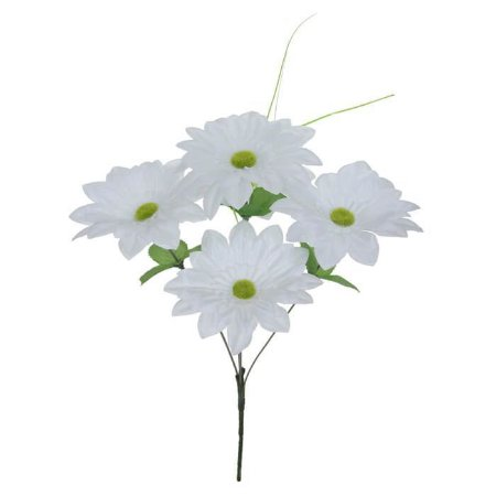 Buquê Flor Artificial Margarida Branco 37cm