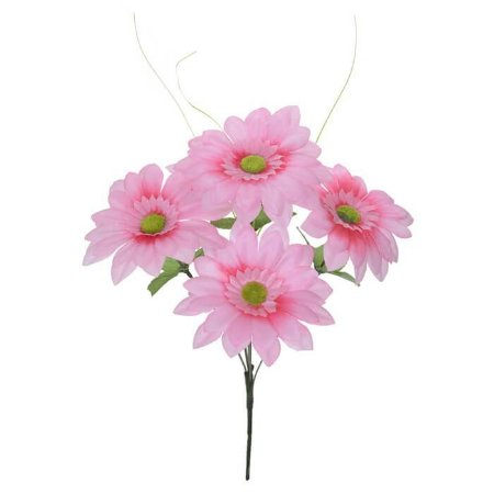 Buquê Flor Artificial Margarida Rosa 37cm