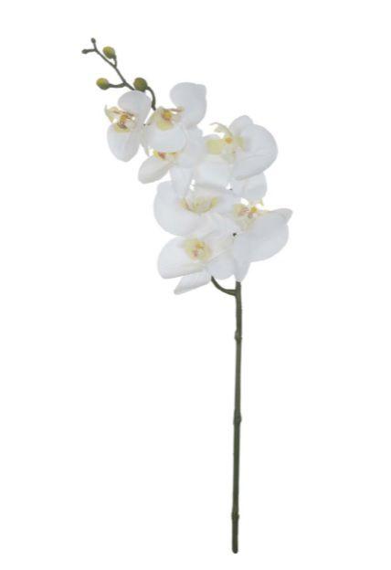 Haste Flor Artificial Orquídea Phalaenopsis Real Toque X7 63cm