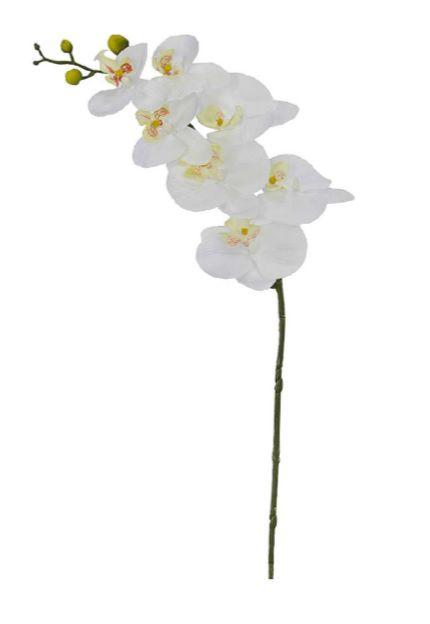 Haste Flor Artificial Orquídea Phalaenopsis Real Toque X7 73cm