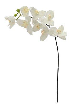 Haste Flor Artificial Orquídea Phalaenopsis Real Toque X8 70cm