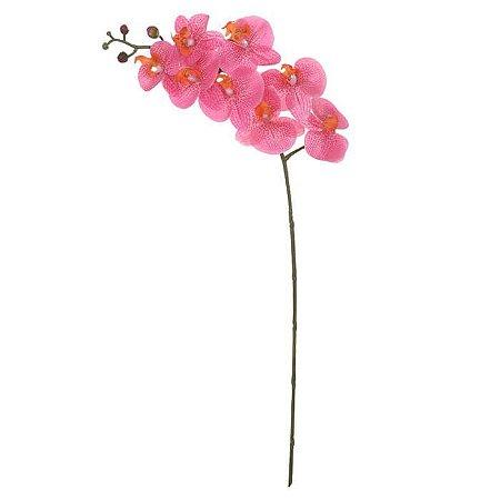 Haste Flor Artificial Orquídea Phalaenopsis Rosa 90cm