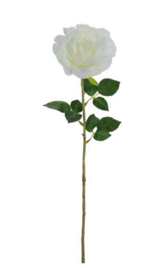 Haste de Rosa Branco 65cm
