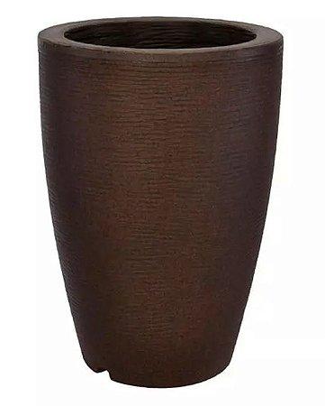 Vaso Cachepot Plástico Cônico Tabaco 55 X 38cm
