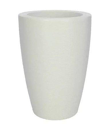 Vaso Cachepot Plástico Cônico Branco 48x34cm