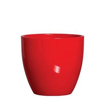 Vaso Cachepot Cerâmica Vermelho 15,5cm