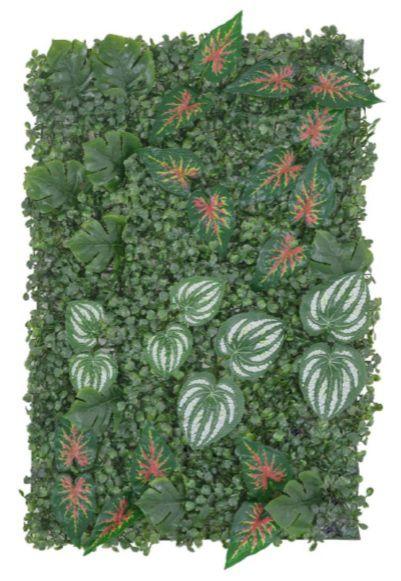 Folhagem Artificial Placa Grama Verde Folhas 40x60cm X23 mod8