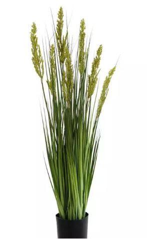 Planta Árvore Artificial Grass Grãos Verde com Vaso 90cm