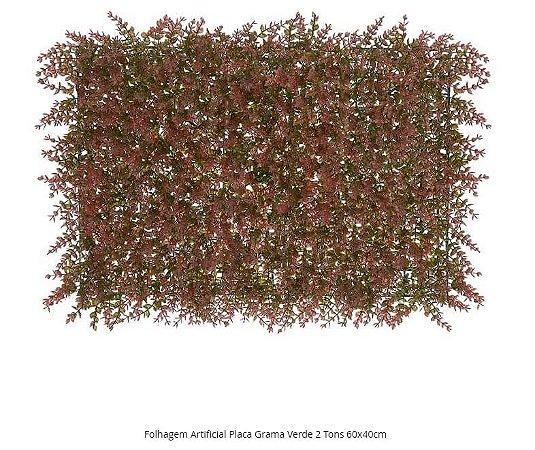 Folhagem Artificial Placa Grama Verde 2 Tons 60x40cm