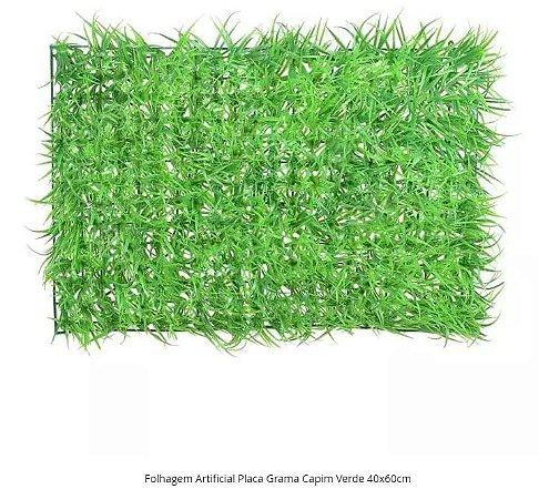 Folhagem Artificial Placa Grama Capim Verde 40x60cm