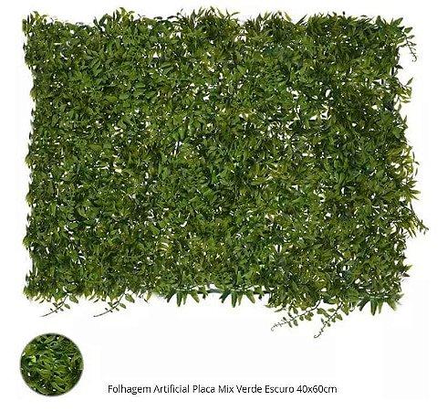 Folhagem Artificial Placa Mix Verde Escuro 40x60cm