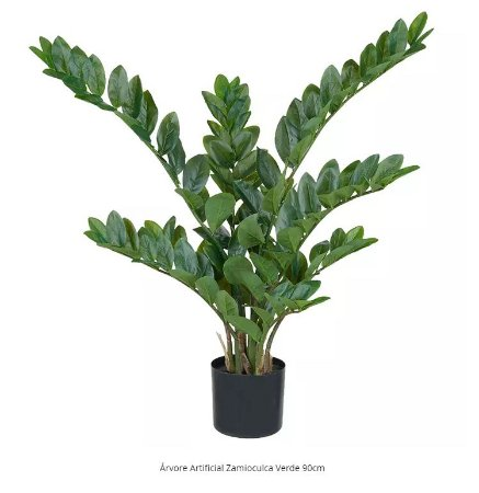 Árvore Artificial Zamioculca Verde 90cm
