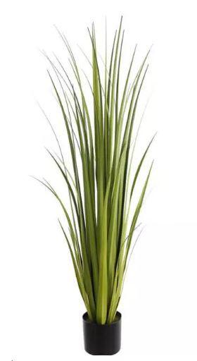 Planta Árvore Artificial Grass Verde Creme 1,2m