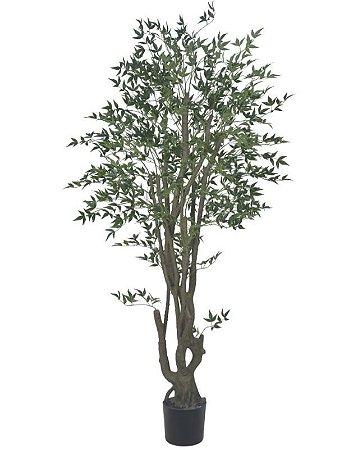 Planta Artificial A.Mini Folha Real Toque C/ Pote  X4048 (VERDE) 1,9m