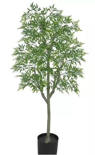 Planta Árvore Artificial Arália Verde 1,2m