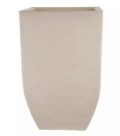Cachepot Plástico Grafiato Trapézio Bege 56x36cm