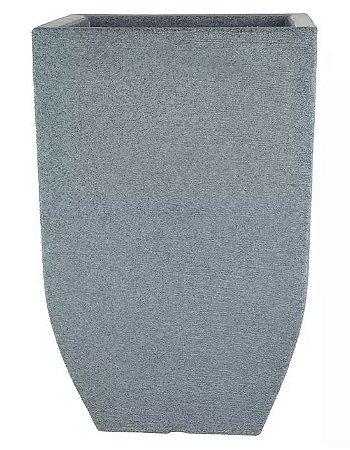 Cachepot Plástico Grafiato Trapézio Cinza 56x36cm
