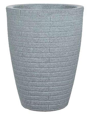 Cachepot Plástico Cônico Tijolinho Cinza 47x37cm