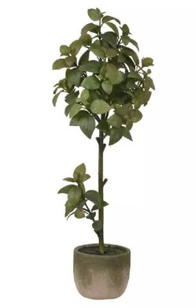Árvore Artificial Manjericão Verde 2 Tons 78cm