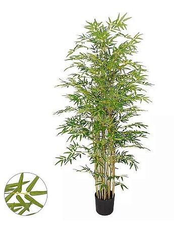Árvore Artificial Bambu Verde com Galho Amarelo 1,9m