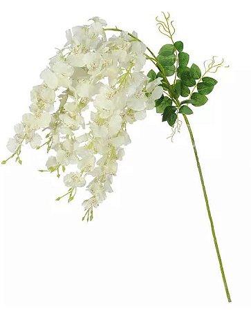 Haste Flor Artificial Vistéria Pendente Creme 1,06m