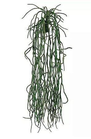 Folhagem Artificial Raiz de Orquídea Pendente Verde 48cm