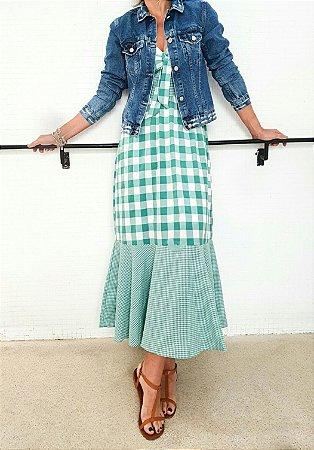 Vestido Vichy (xadrez grande verde)