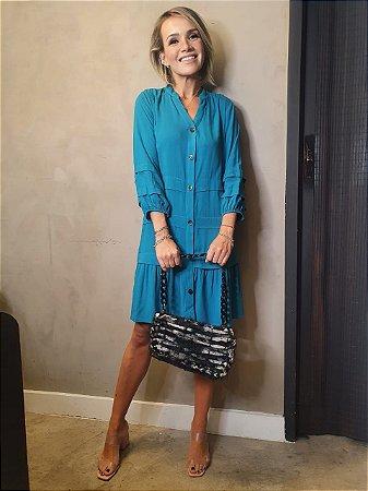 Vestido Antônia Azul Francia