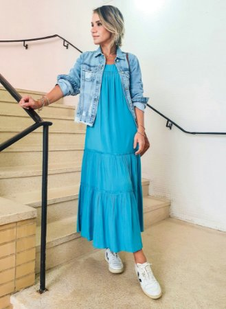 Vestido Ilka Azul Francia