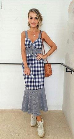 Vestido Vichy (xadrez grande azul)