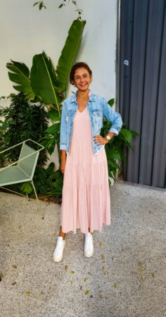 Vestido Teresa Rosa Seco