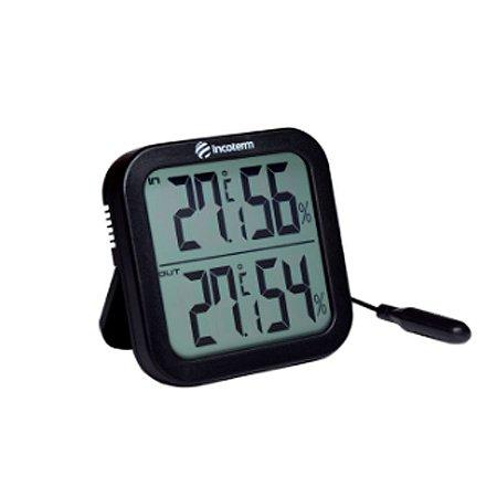 Termo-Higrômetro Digital Incoterm – Com Cabo e Sensor Prova D'água