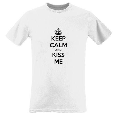 CAMISETA KEEP CALM and KISS ME + Pulseiras